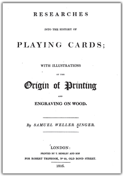 Researches into the History of Playing Cards and Printing